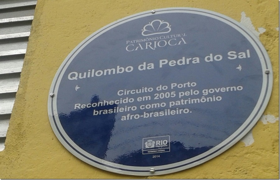 placa quilombo pedra do  sal