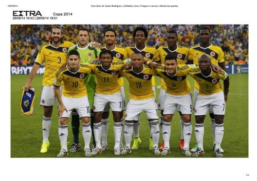 Com show de James Rodríguez, Colômbia vence Uruguai e encara o Brasil nas quartas