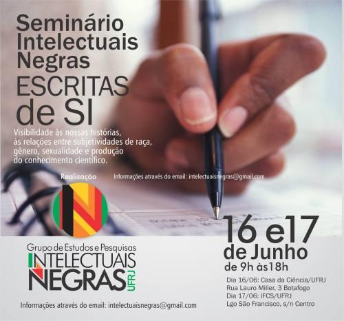 Seminário Intelectuais Negras - flyer com logo  11.06.16